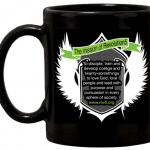 Rev5 Mug Black Flying Crest Mission Statement