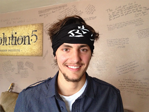 Rev5 Workout Buff used as a Headband